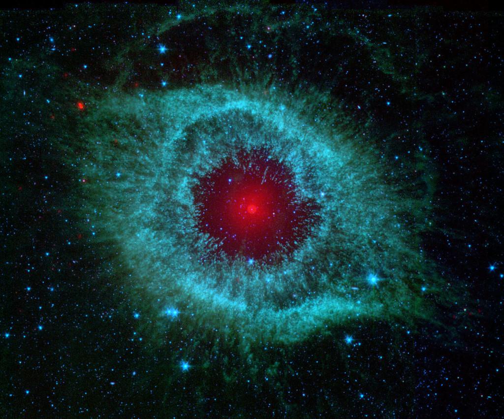helix nebula infrared,helix nebula nasa image
