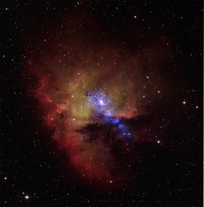 pacman nebula,cassiopeia,ngc 281