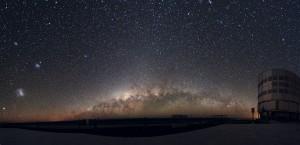 large magellanic cloud,small magellanic cloud,panoramic image