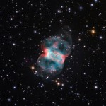 planetary nebula in perseus constellation,m76