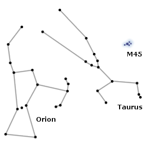 orion constellation,taurus constellation