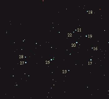 messier 45 map,m45 map