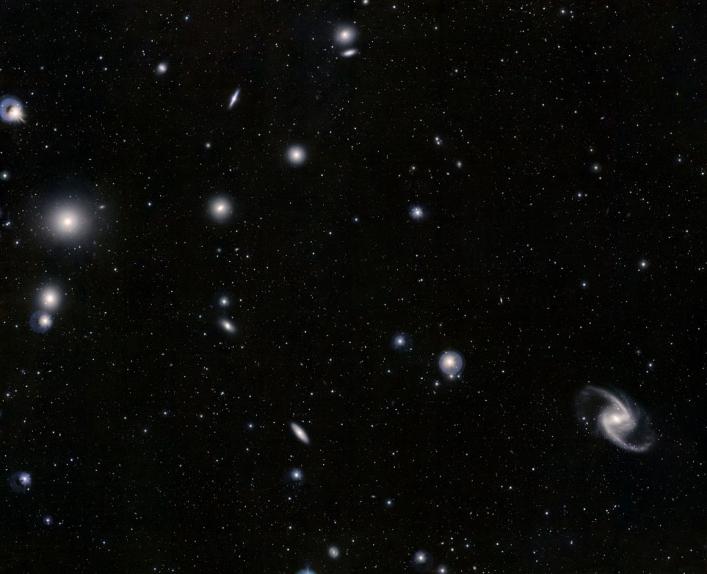fornax constellation,galaxy cluster