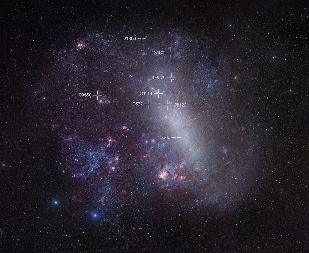 Mensa Constellation Constellation Guide - Astronomical map of galaxies in the us