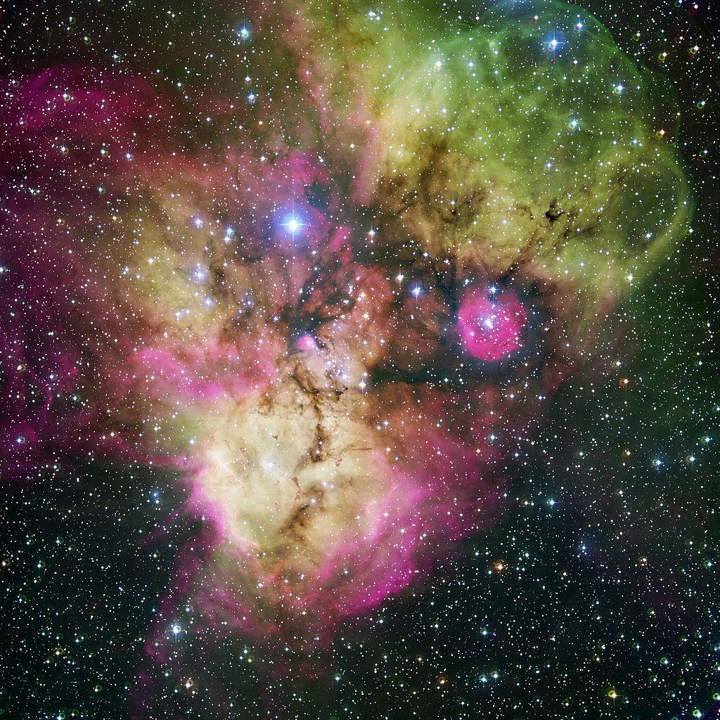 nebula,starburst region,open cluster