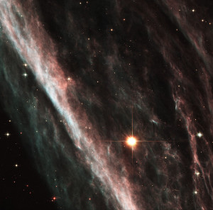 Remnants from a star that exploded thousands of years ago created a celestial abstract portrait, as captured in this NASA Hubble Space Telescope image of the Pencil Nebula. Officially known as NGC 2736, the Pencil Nebula is part of the huge Vela supernova remnant, located in the <a href=