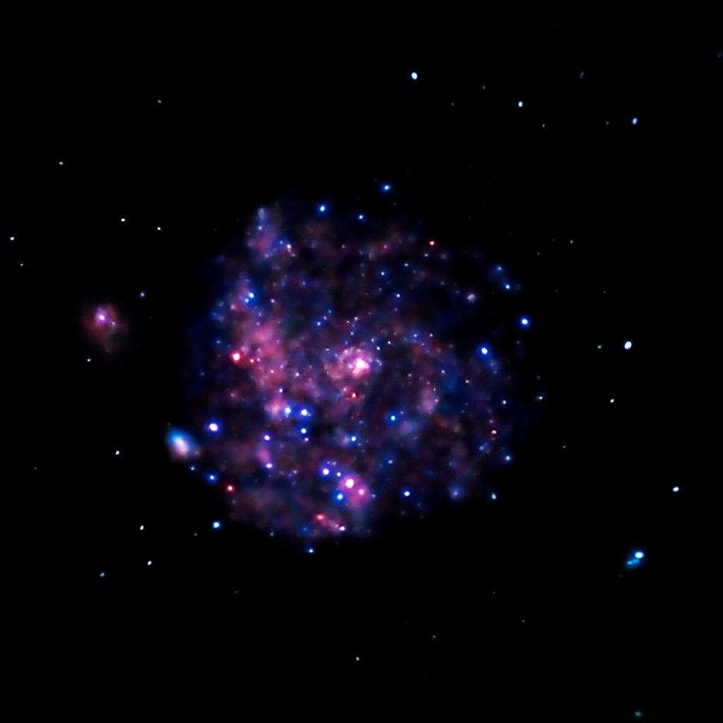 m101 x-ray image,spiral galaxy