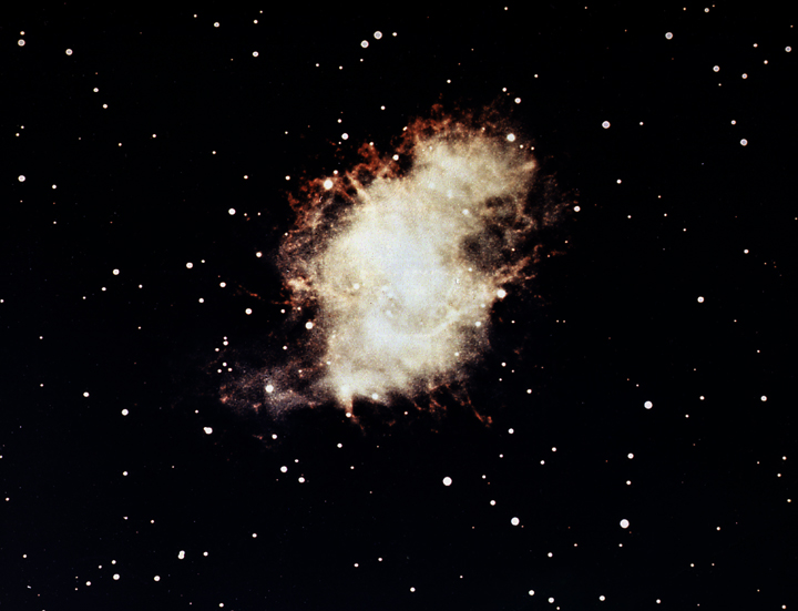 crab nebula,messier 1,visible light
