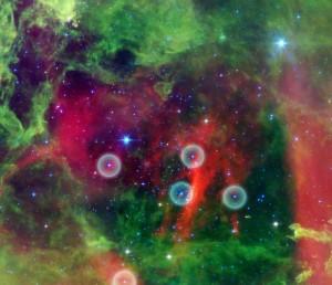 open cluster,rosette nebula