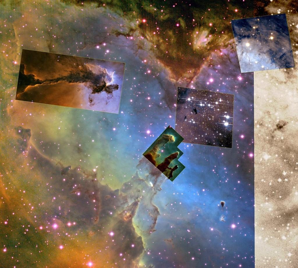 eagle nebula,messier 16,eagle nebula hubble,m16 hubble