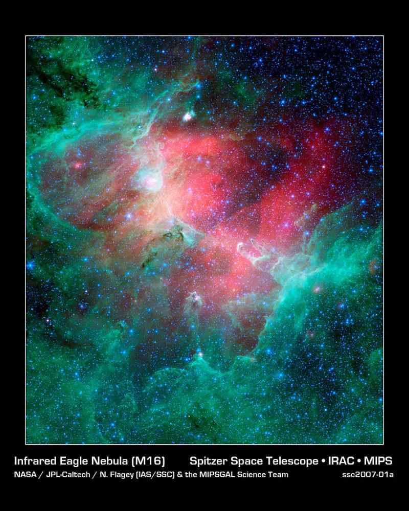 eagle nebula,eagle nebula infrared