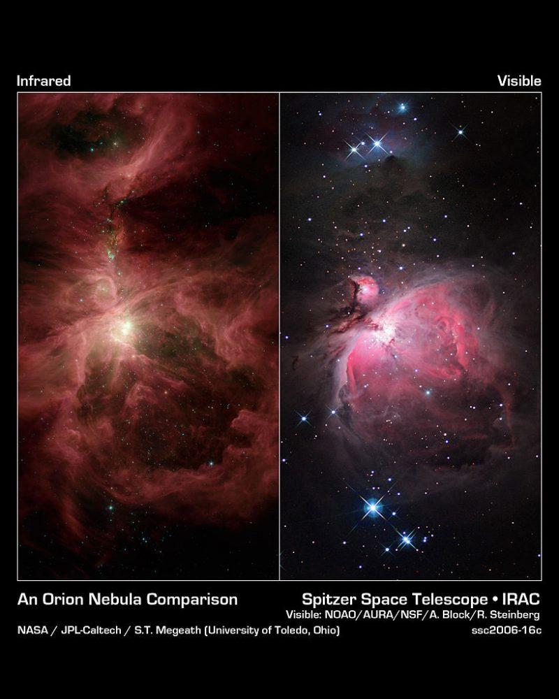 orion nebula infrared,m42 infrared