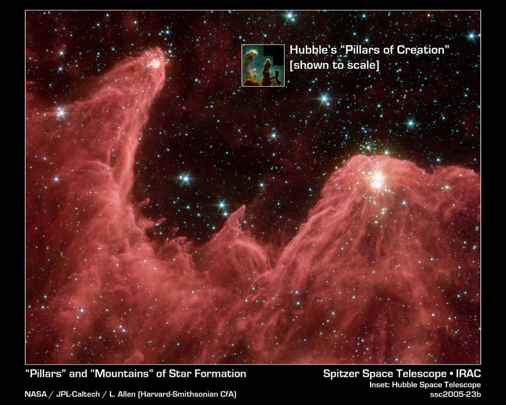 pillars of creation,pillars of creation infrared