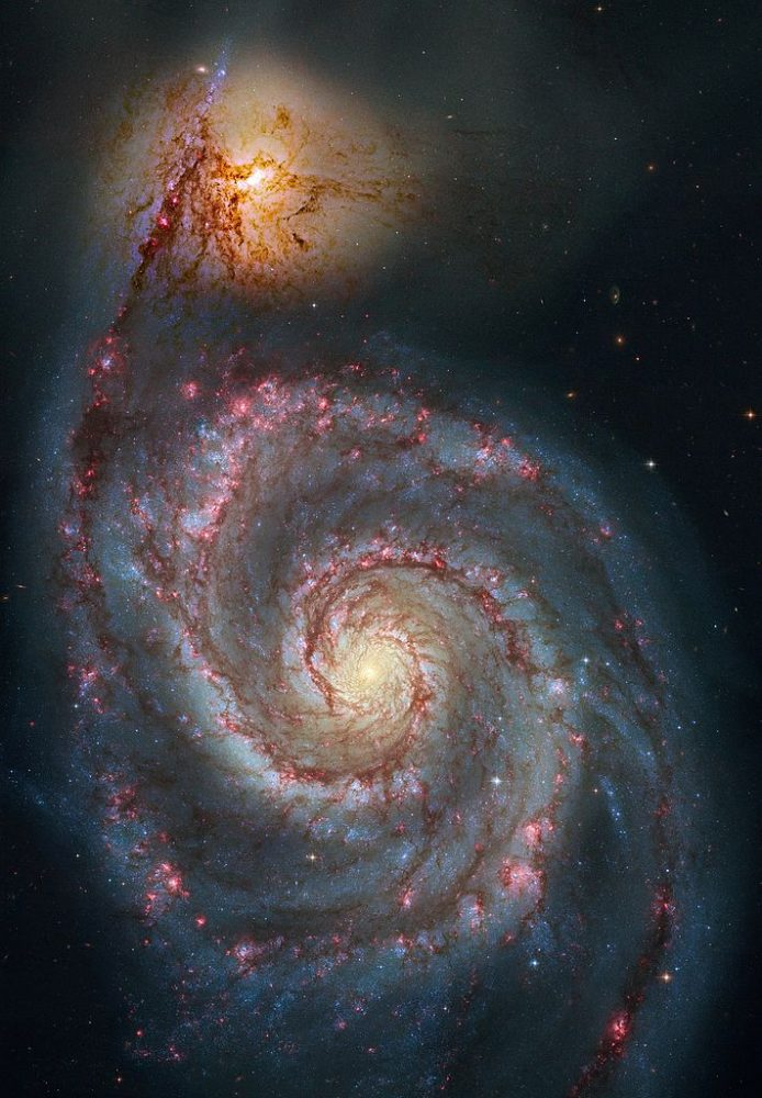 whirlpool galaxy,messier 51,m51,hubble image