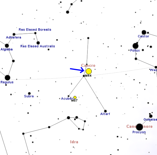 praesepe location,find messier 44