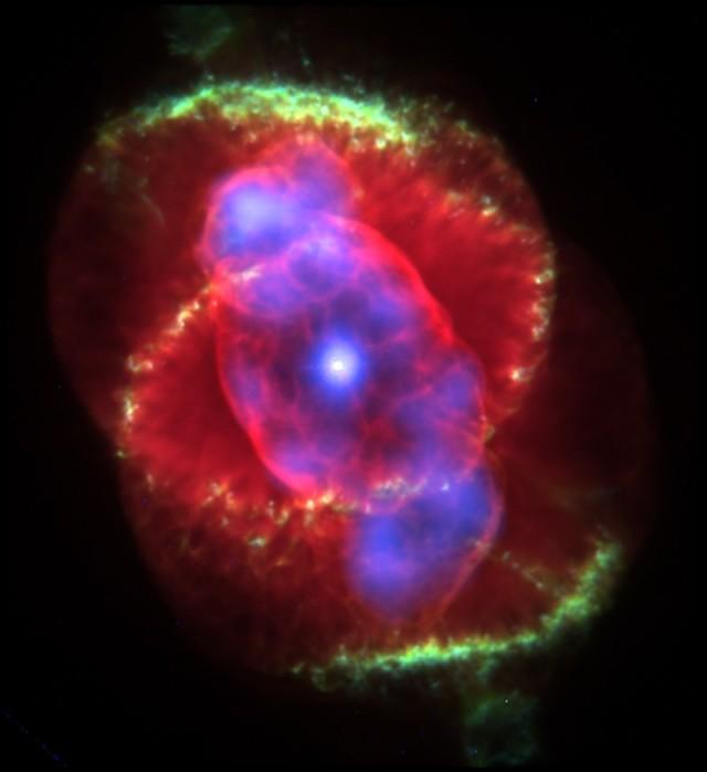 cat's eye nebula composite image