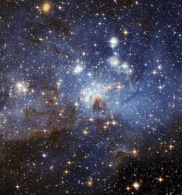 lh 95,large magellanic cloud,stellar nursery