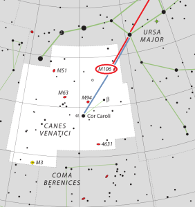 m106 location, find messier 106