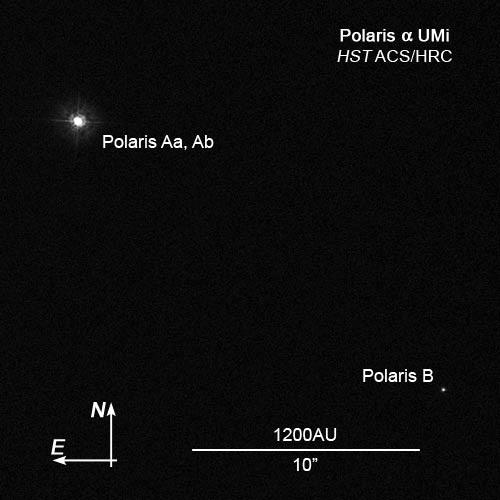 Polaris the north star alpha ursae minoris constellation guide polaris star sytem image nasa ccuart Choice Image