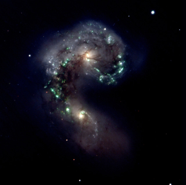 colliding galaxies,interacting galaxies