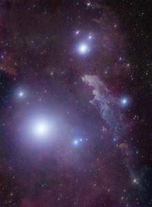 witch head nebula,ic 2118,rigel
