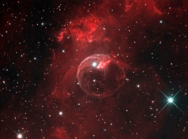 ngc 7635,emission nebula,cassiopeia