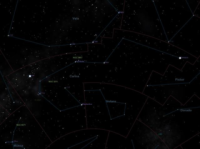 canopus constellation,canopus map,where is canopus