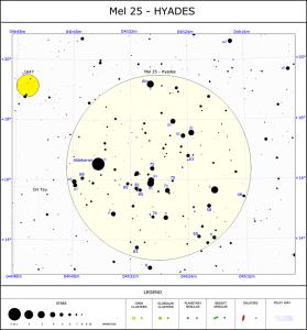 aldebaran,hyades cluster