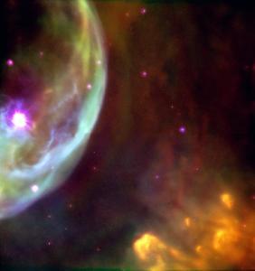 bubble nebula,cassiopeia
