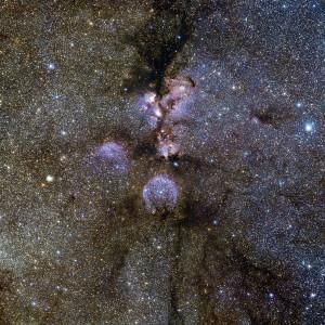 cat's paw nebula,ngc 6334,stellar nursery,emission nebula