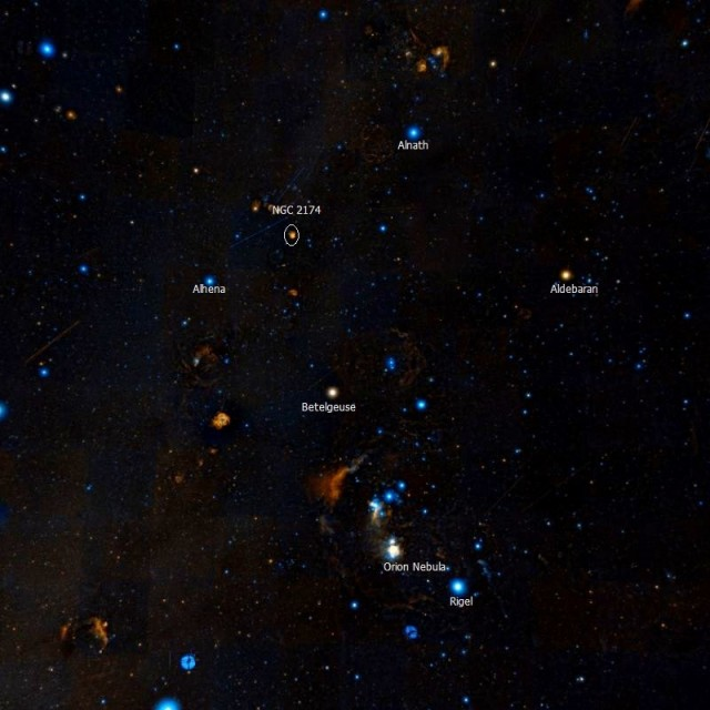 NGC 2174 location