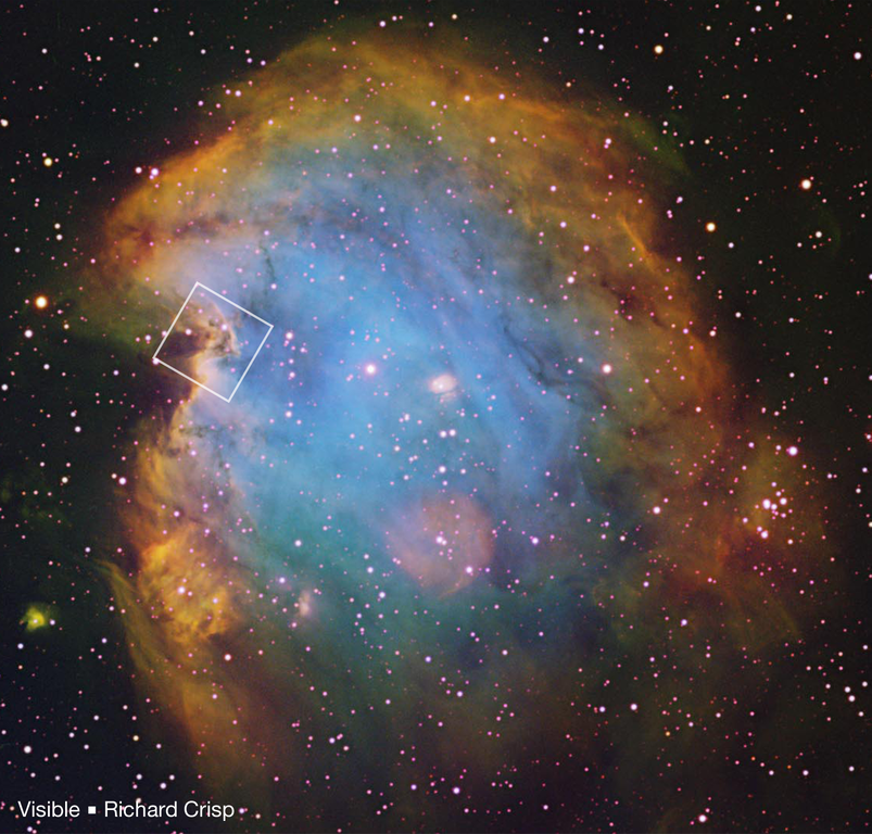 Monkey Head Nebula - NGC 2174   Constellation Guide