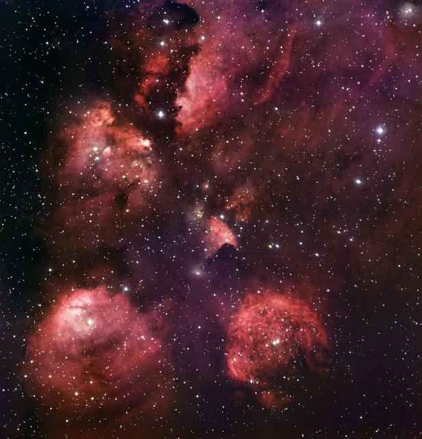 cat's paw nebula,bear claw nebula