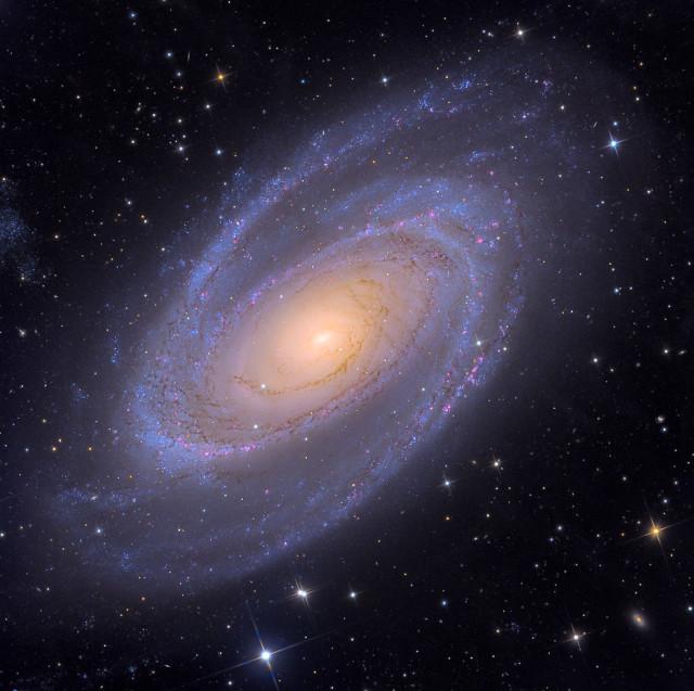 messier 81,m81,grand design spiral galaxy