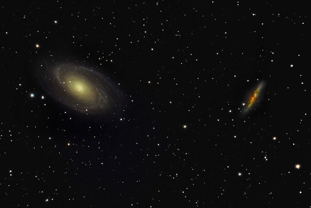 bode's galaxy,cigar galaxy,messier 81,messier 82