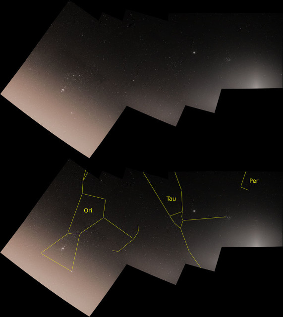 orion and taurus location