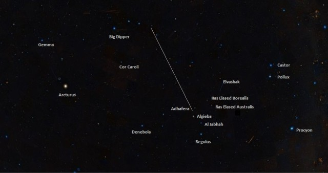 find regulus,where is regulus in the sky