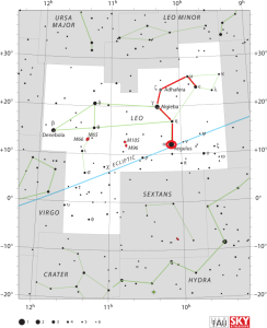 regulus star map,find regulus
