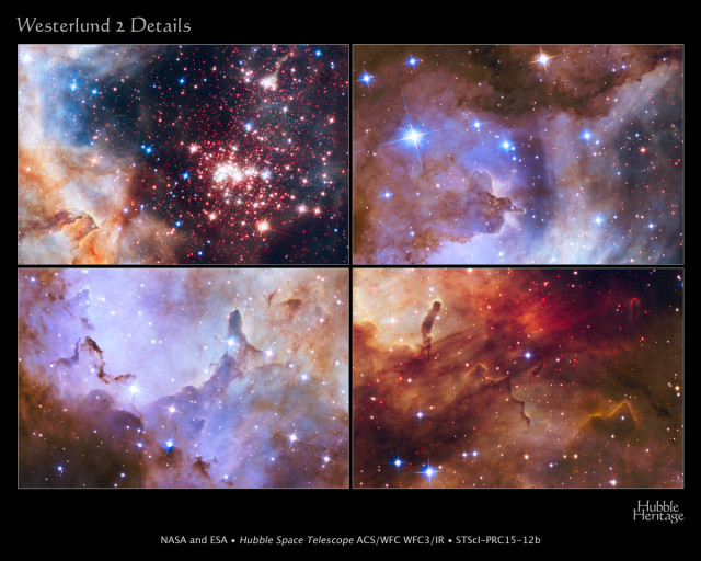 westerlund 2,hubble anniversary images