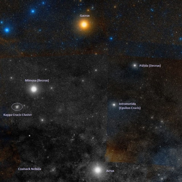 jewel box cluster location,where is jewel box cluster,find kappa crucis cluster