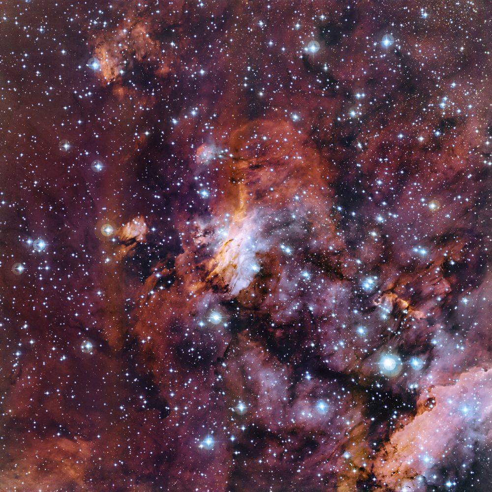 prawn nebula,gum 56,ic 4628,stellar nursery