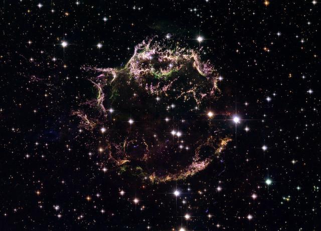 cassiopeia a,supernova remnant,cas a hubble