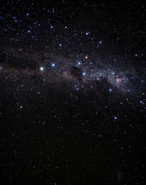 coalsack nebula,crux constellation,milky way