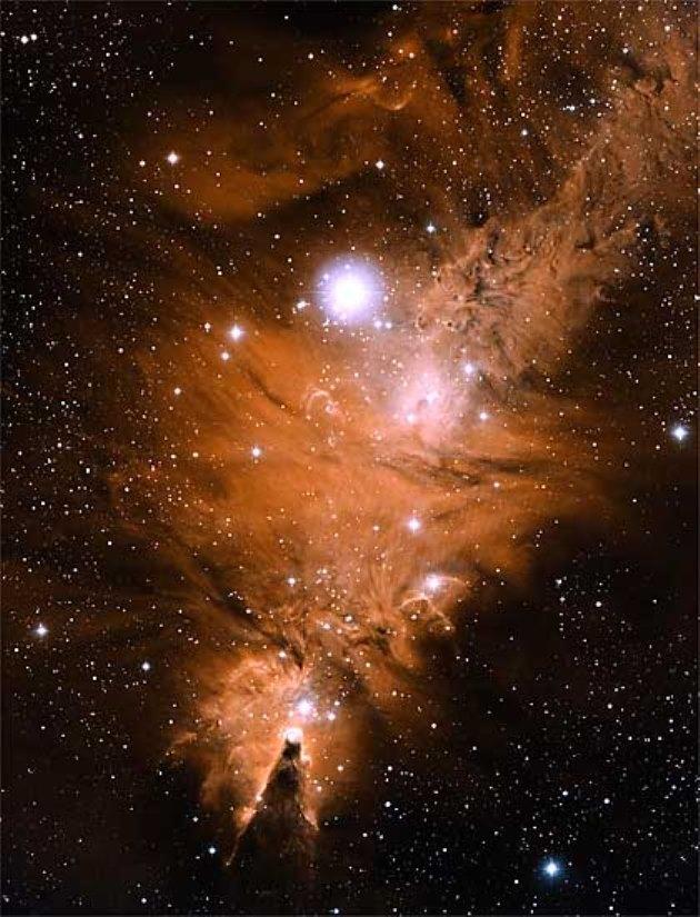 ngc 2264,christmas tree cluster,cone nebula,fox fur nebula