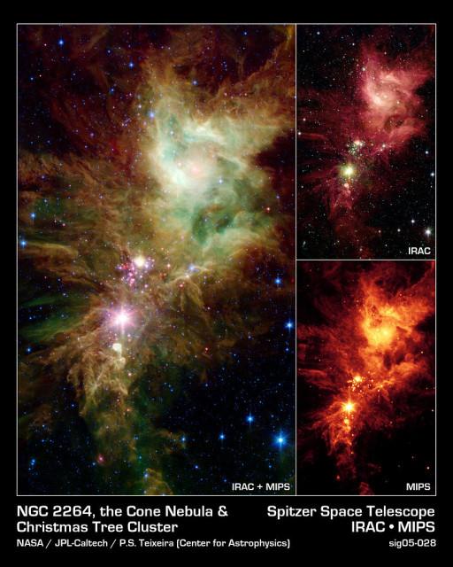 cone nebula,ngc 2264,christmas tree cluster
