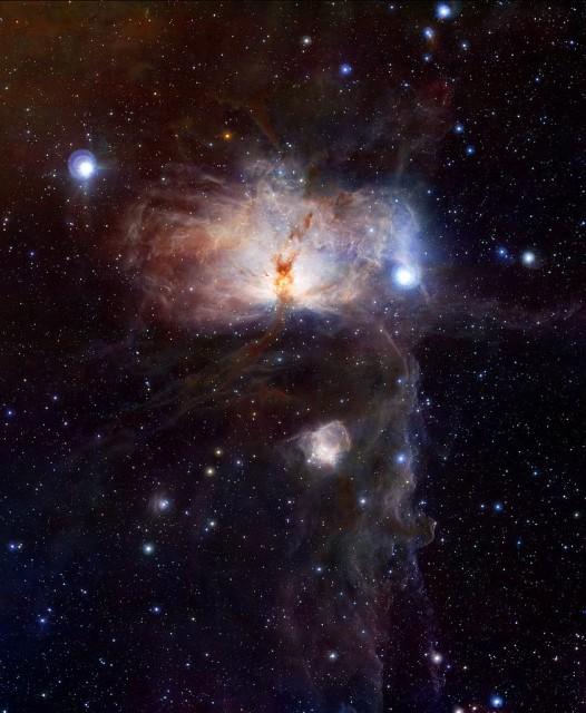 flame nebula,horsehead nebula,orion nebulae