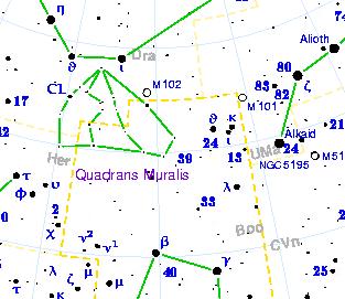 quadrans muralis,quadrans muralis map