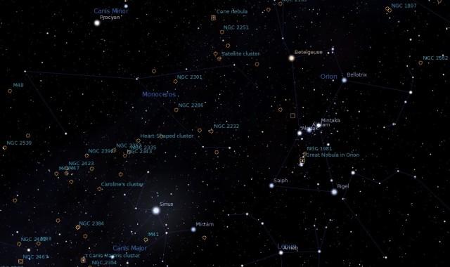 winter deep sky objects