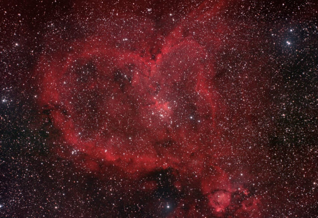 heart nebula,ic 1805,emission nebula,cassiopeia