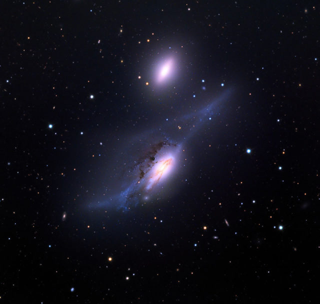 ngc 4435,ngc 4438,the eyes galaxies,markarian's eyes,virgo cluster galaxies,interacting galaxies